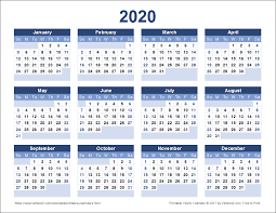 2020 Term Dates